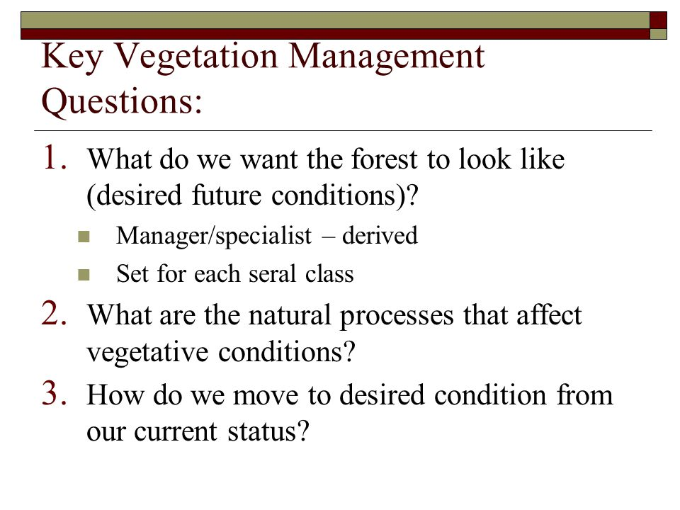 Models to address Questions 2 and 3  What are the natural processes to consider.
