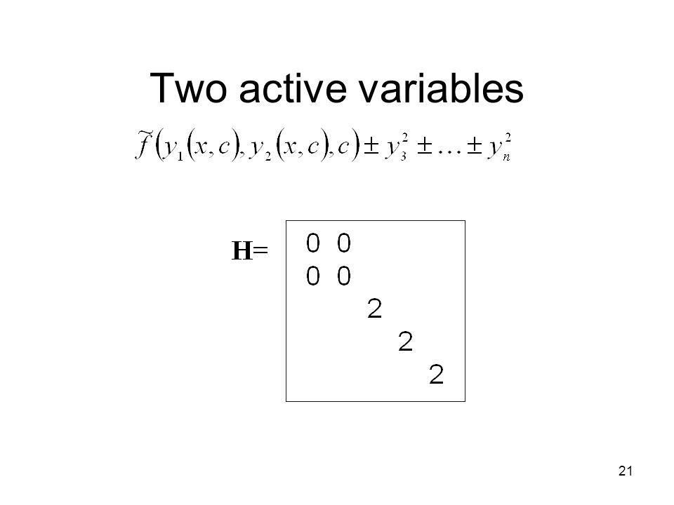 21 Two active variables