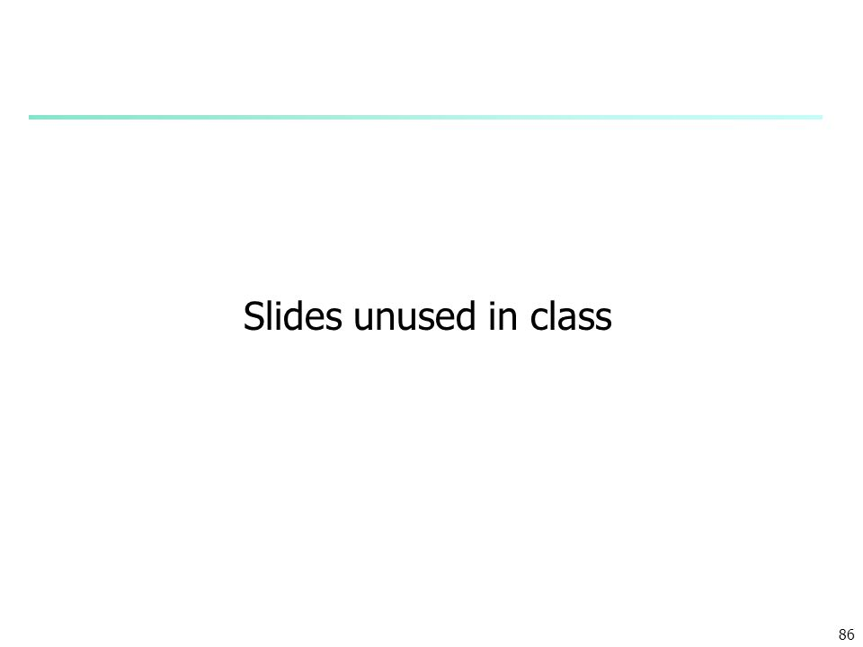 Slides unused in class 86