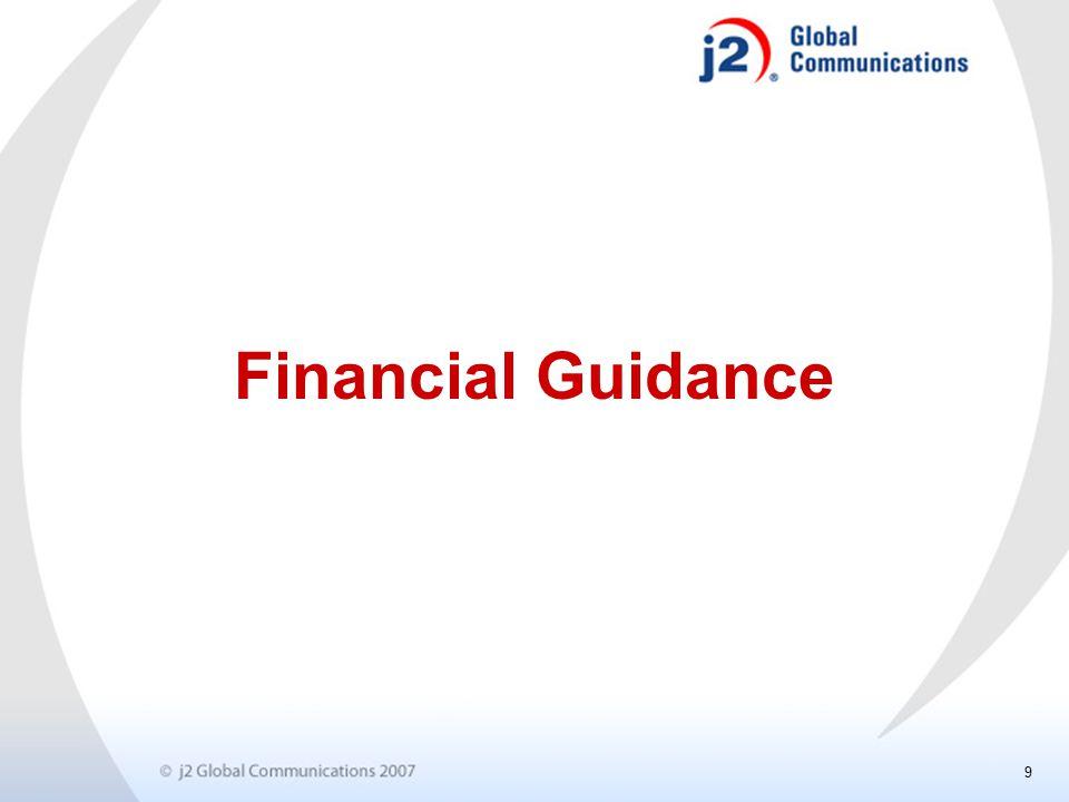 9 Financial Guidance