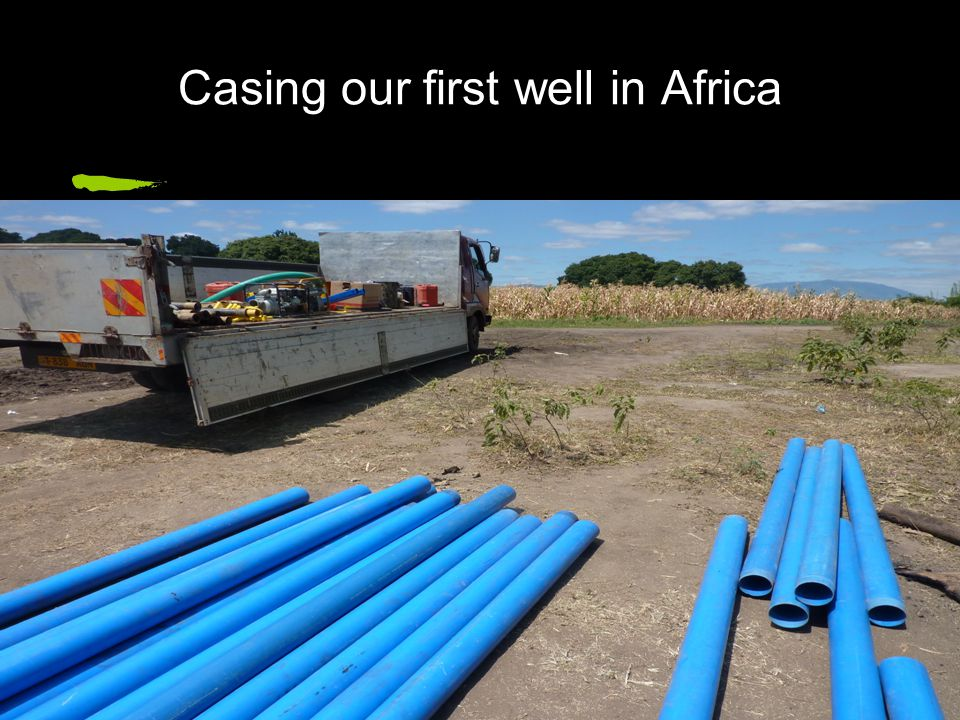 Casing our first well in Africa
