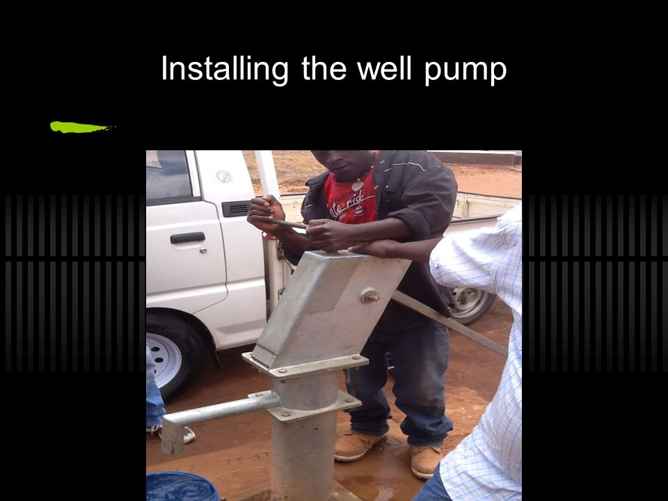 Installing the well pump