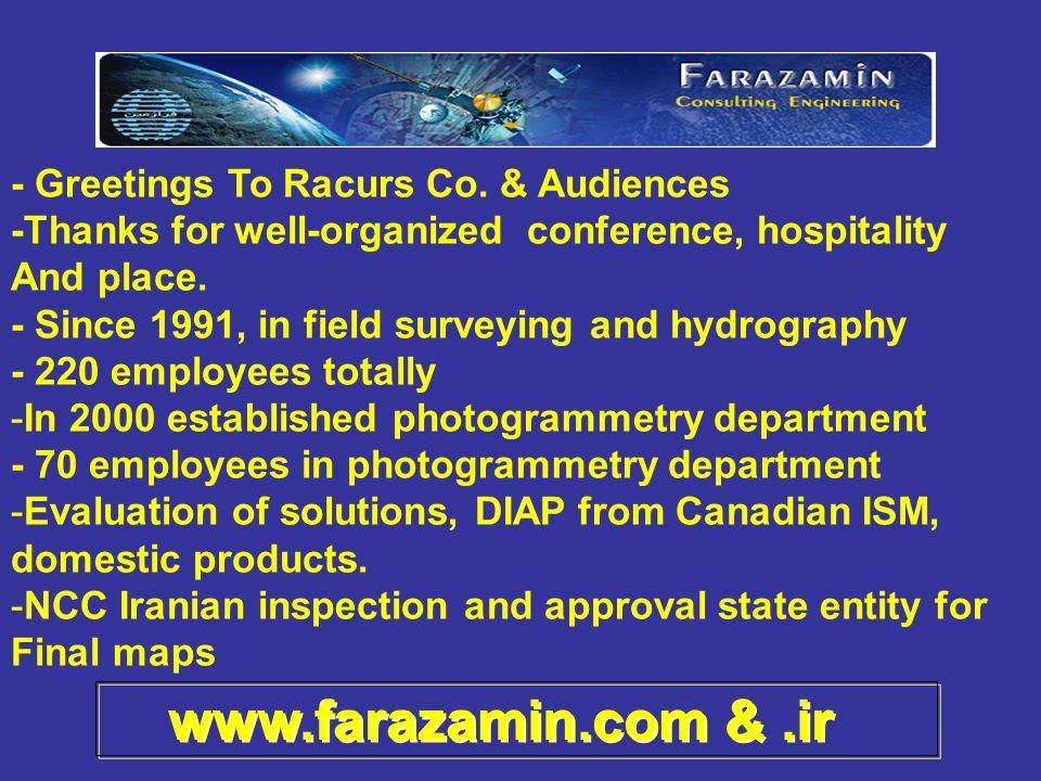 www.farazamin.com &.ir - Greetings To Racurs Co.