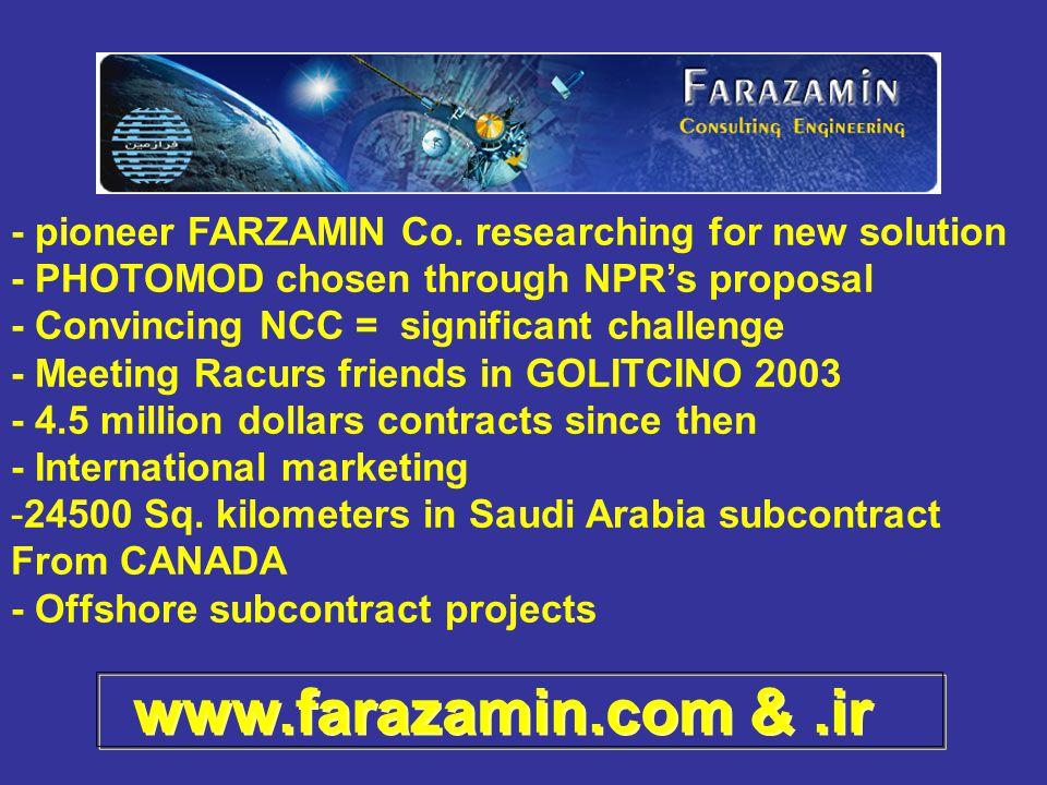 www.farazamin.com &.ir - pioneer FARZAMIN Co.