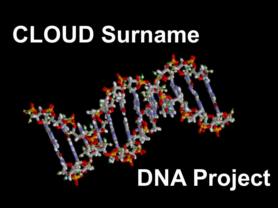 CLOUD Surname DNA Project