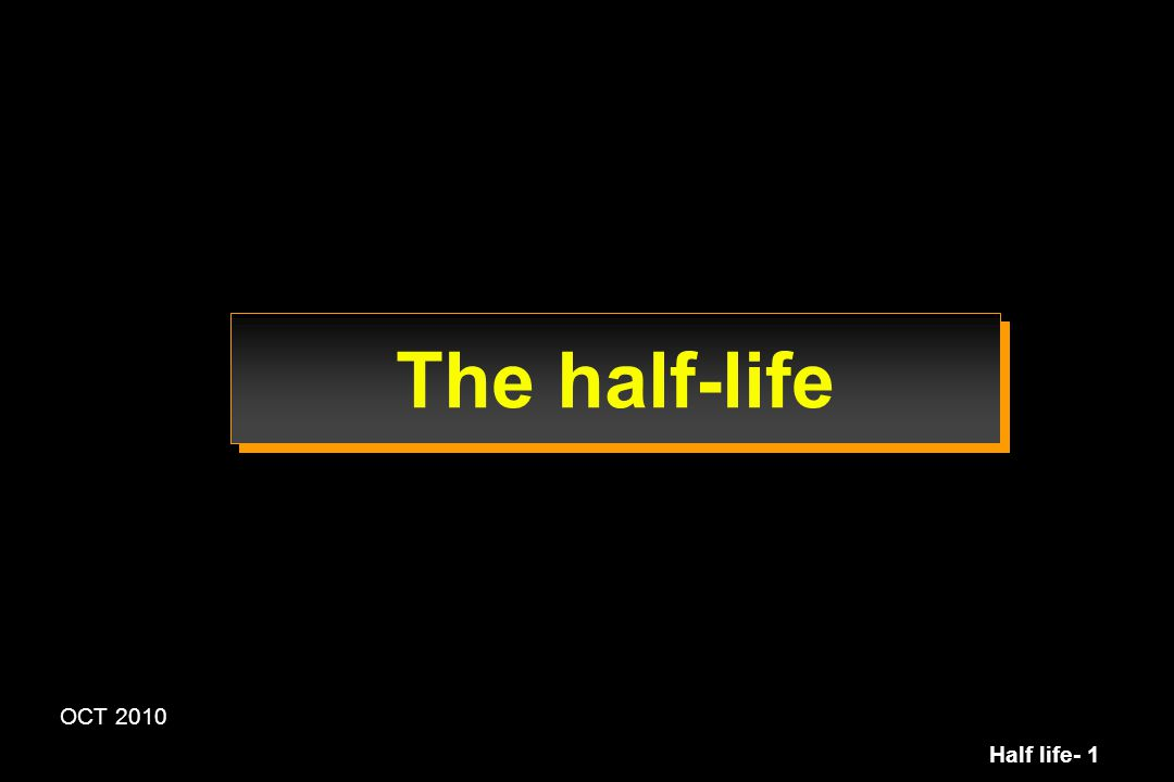 Half life- 42 Half-life and delay to reach steady state conditions Plasma vs shallow and deep compartment shallow (2) 1 deep (3) 0.137 0.518 0.0869 0.0479 3 1 2 0.0558 Time Amount