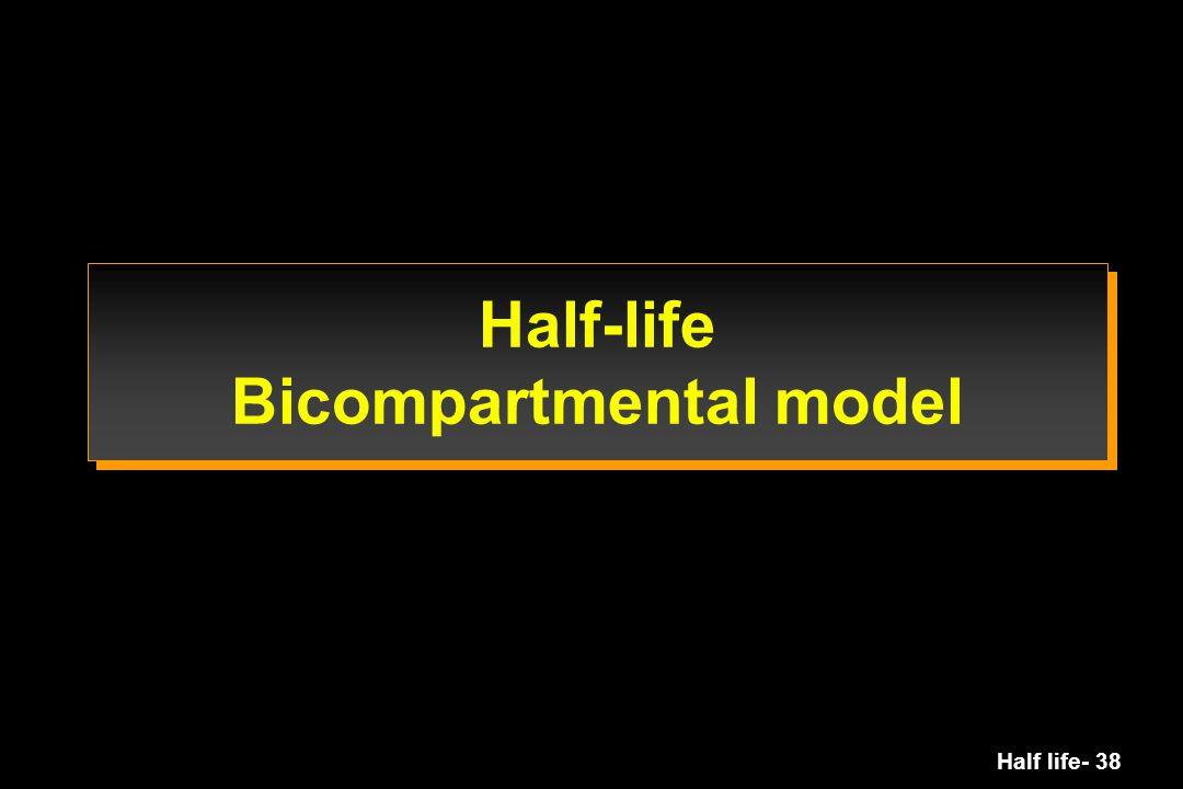Half life- 38 Half-life Bicompartmental model