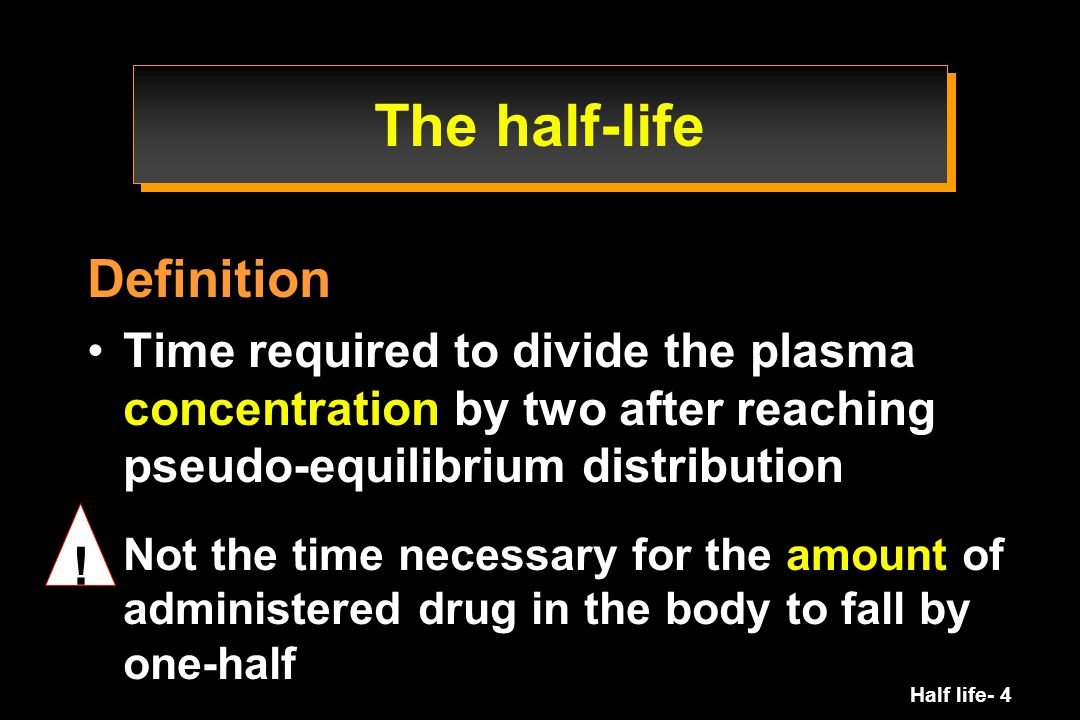 Half life- 25 Half-life Systemic exposure Clearance Volume of distribution bioavailability Dosing regimen How often.