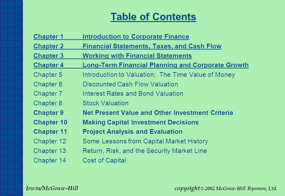 FINANCIAL ANALYSIS AND FORECASTING (HEC-MONTREAL) Fundamentals of Corporate Finance 2002 McGraw-Hill Ryerson, Ltd Slide 15 T1.8 Financial Markets Financial Markets What is the role of financial markets in corporate finance.