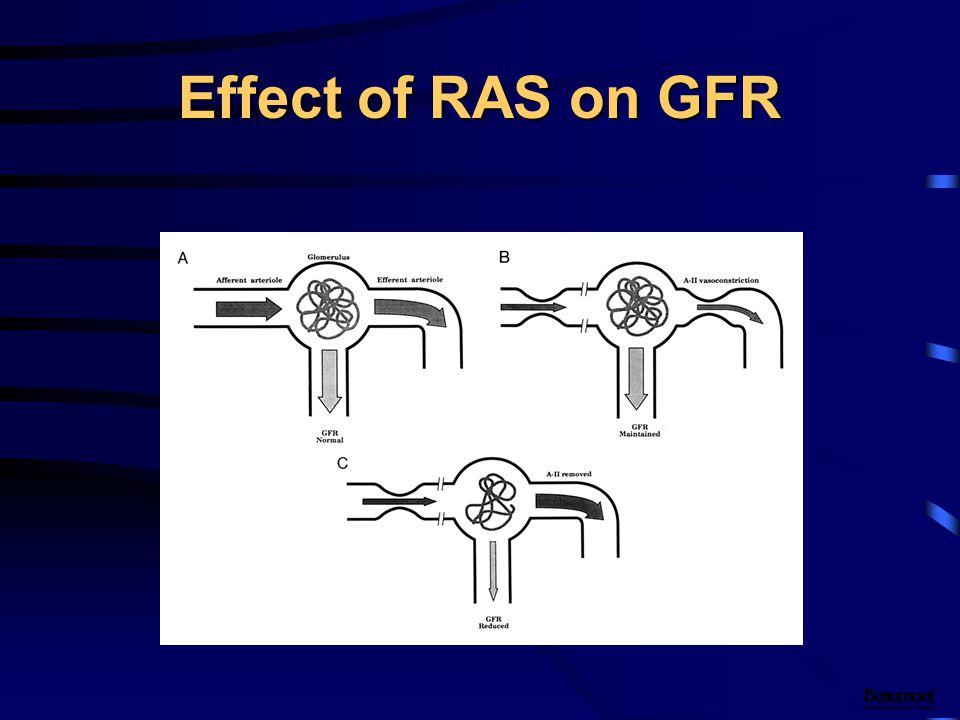 Effect of RAS on GFR