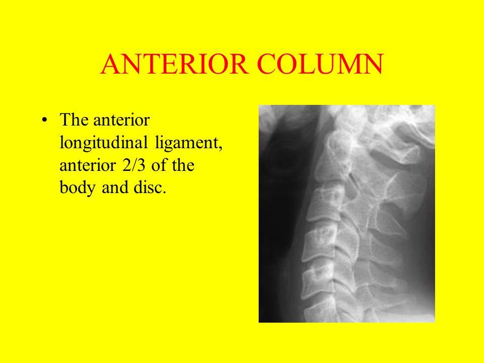 The ATLAS: C1 Anterior arch fracture: extension, uncommon.