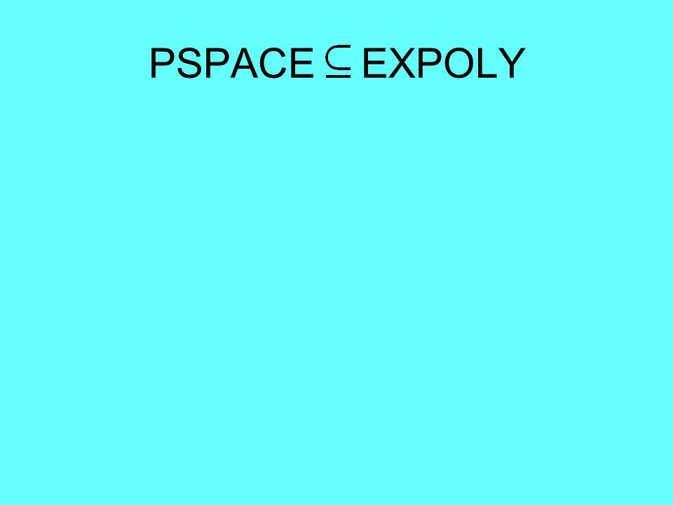 PSPACE EXPOLY