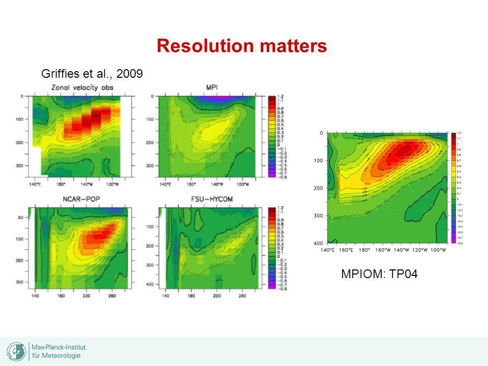 Resolution matters Griffies et al., 2009 MPIOM: TP04