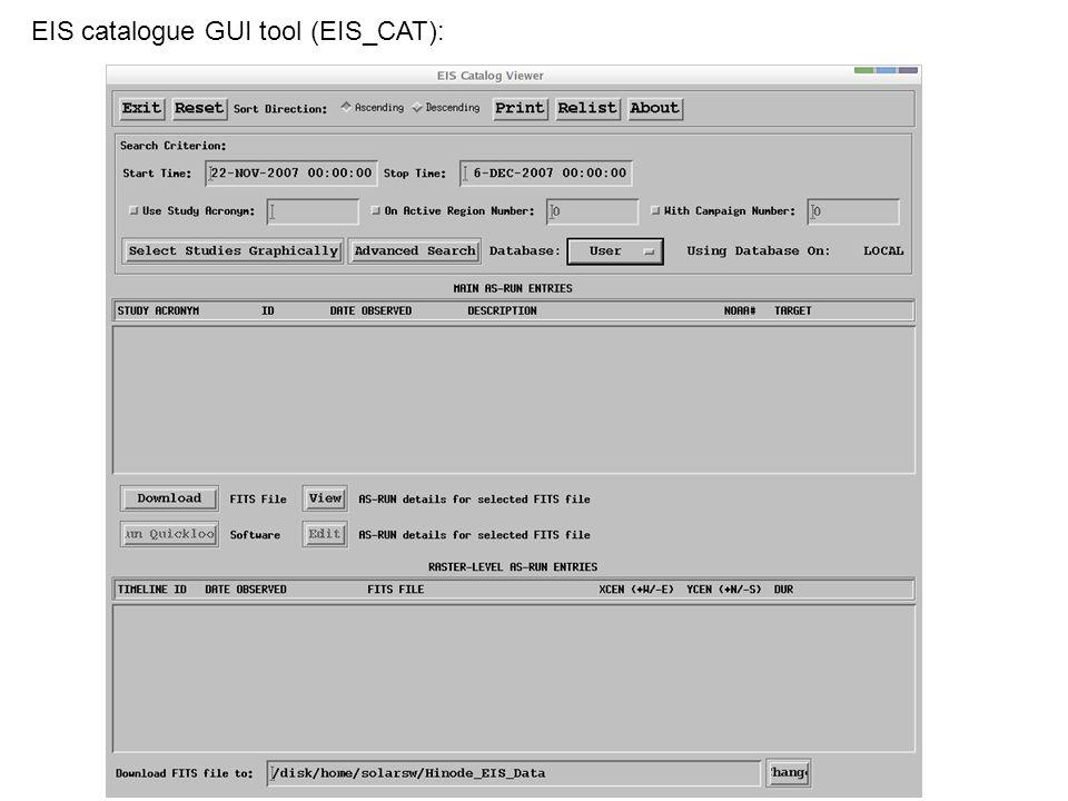 ISAS - DARTS DB MSSL – Hinode SDC Hinode data (e.g.