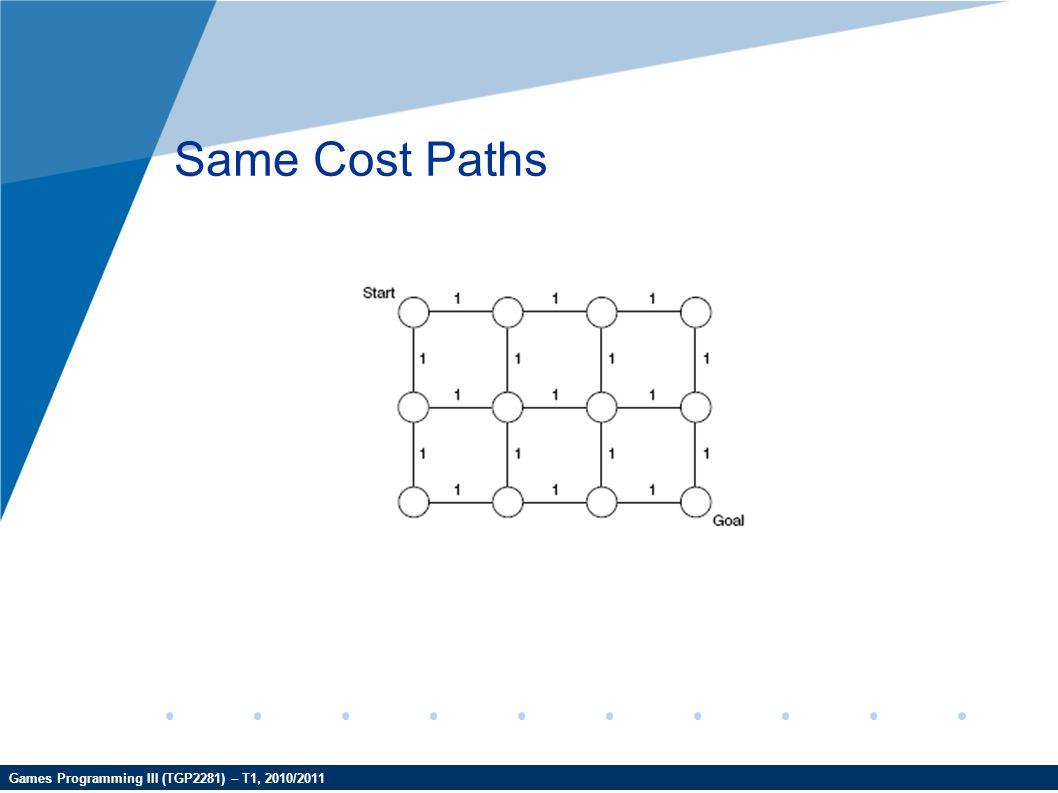 Games Programming III (TGP2281) – T1, 2010/2011 Same Cost Paths