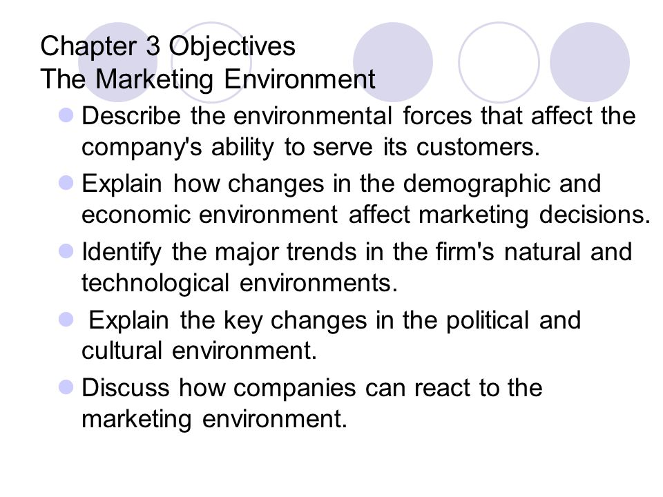 Microenvironment: internal forces Company Suppliers Marketing Intermediaries Customers Publics Competitors Company