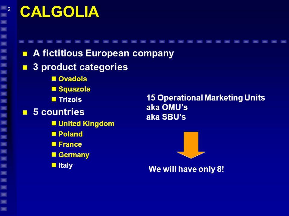 13 CALGOLIA Company Analysis-Profitability COUNTRIES 100% 62.6% 19.1% 10.4% 33.1% 100% 60.9% 15.6% 8.9% 36.4% UKPOLAND Revenues Contrib Before Mktg (CBM) Cosnumer Marketing Trade Marketing Contrib After Mktg (CAM) 100% 64.7% 21.7% 11.5% 31.6% FRANCE 100% 65.6% 14.7% 8.3% 42.6% GERMANY 100% 66.8% 15.4% 8.3% 43.1% ITALY