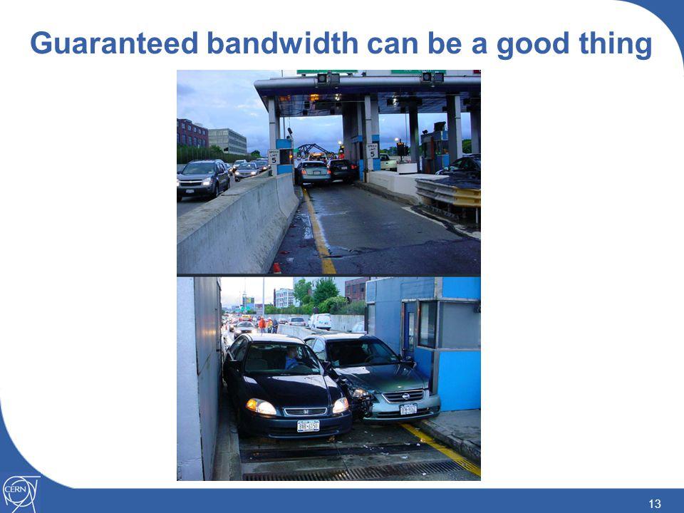 13 Guaranteed bandwidth can be a good thing