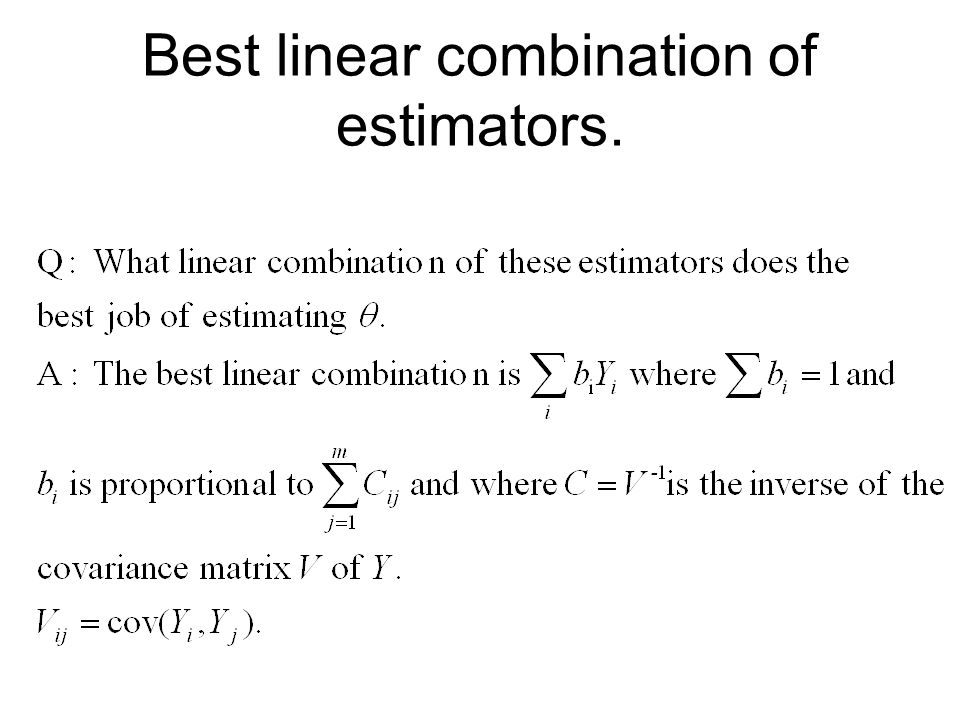 Estimating Covariance