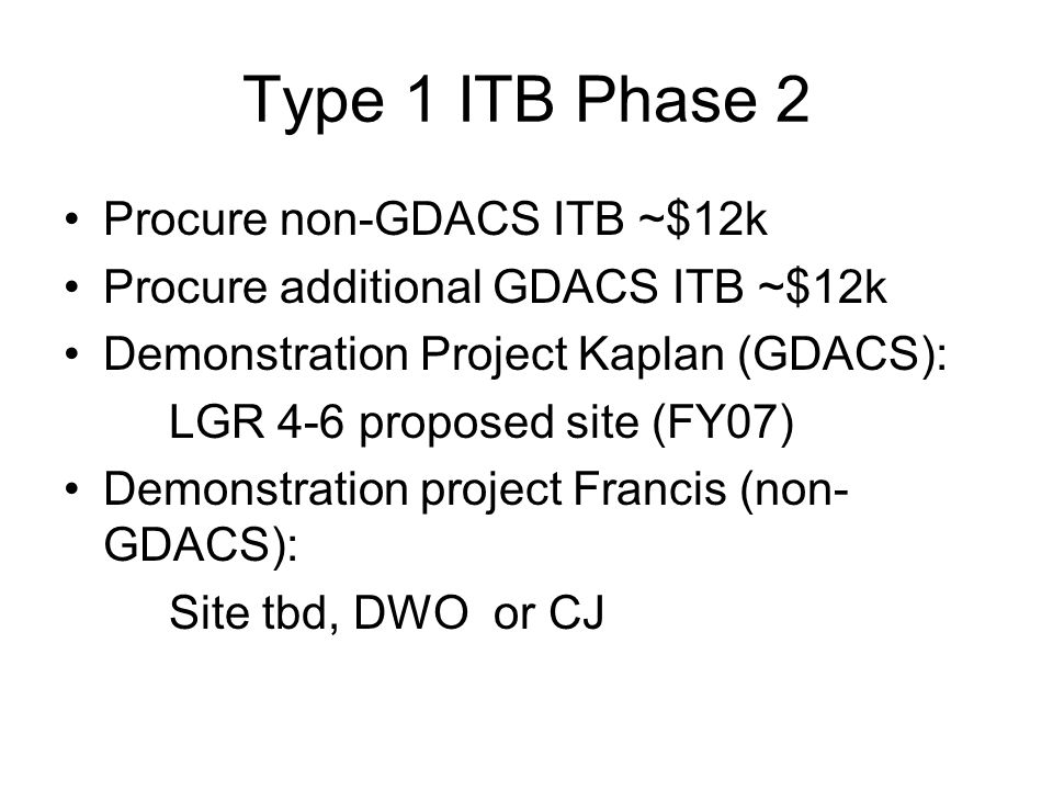 T1 Future Work T1 Implementation into GDACS: - ITB source code availability - ITB long term maintenance - Develop code for GDACS Est.