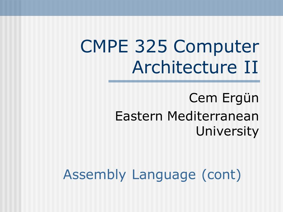 CMPE 325 CH #3Slide #32 Coding Example – Procedure g() g() procedure void g(int y[]) { int i; for (i=2;i<12;i++) y[i]*=2; y[2] – = 4; } g: li $t0, 2# $10= i  2 for loop Loop: slti $t1, $t0, 12# if ( i < 12) then $t1  1 beq $t1,$0, ExitF# if ($t1=0) exit for-loop.