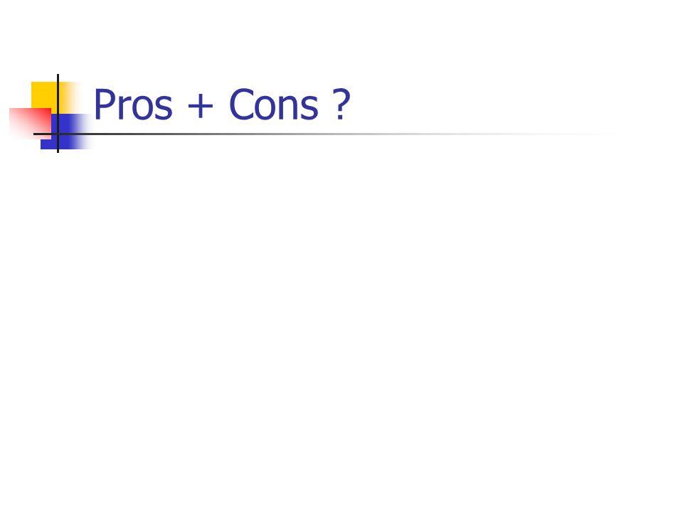 Pros + Cons