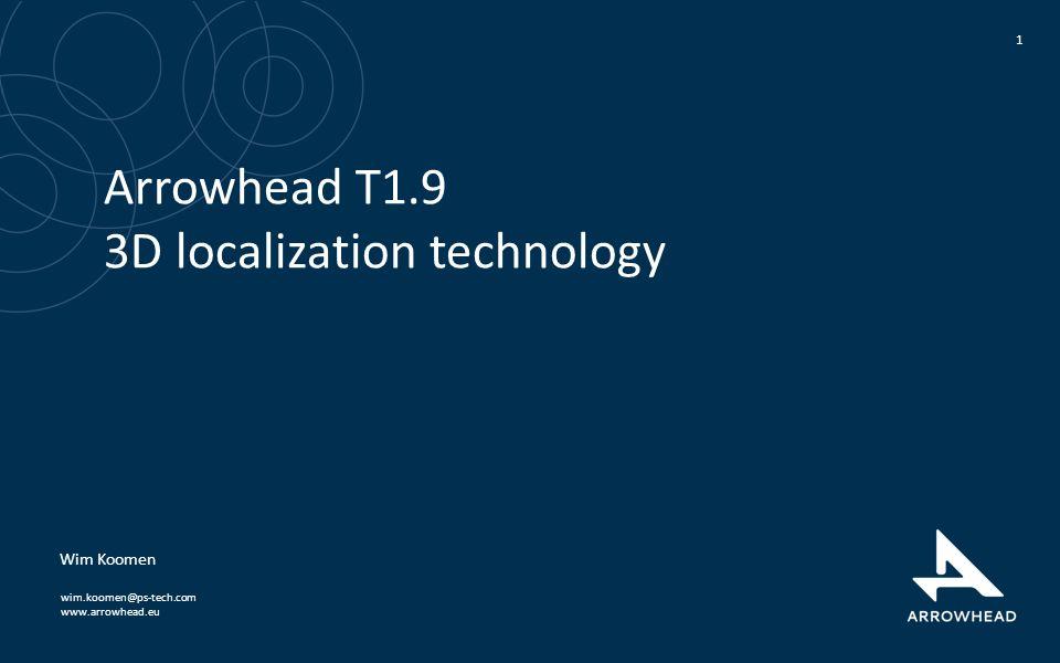 www.arrowhead.eu Arrowhead T1.9 3D localization technology 1 Wim Koomen wim.koomen@ps-tech.com