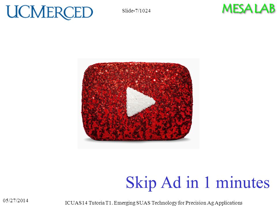 MESA LAB Skip Ad in 1 minutes ICUAS14 Tutoria T1.