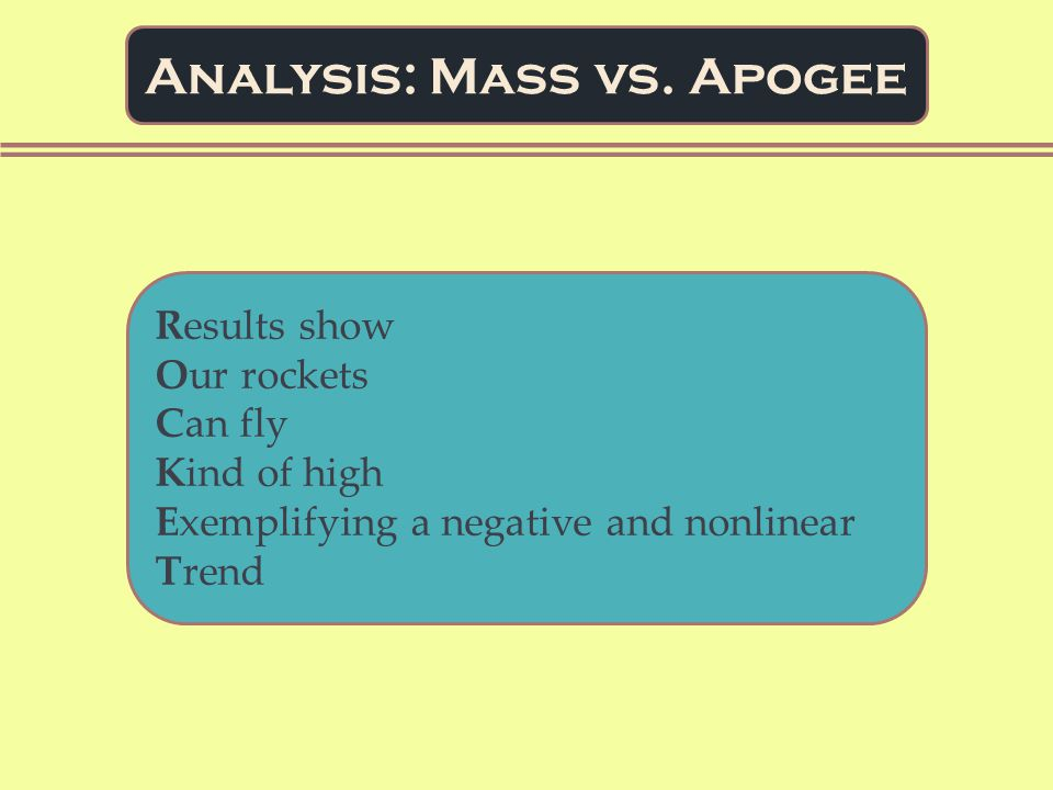 Analysis: Mass vs.