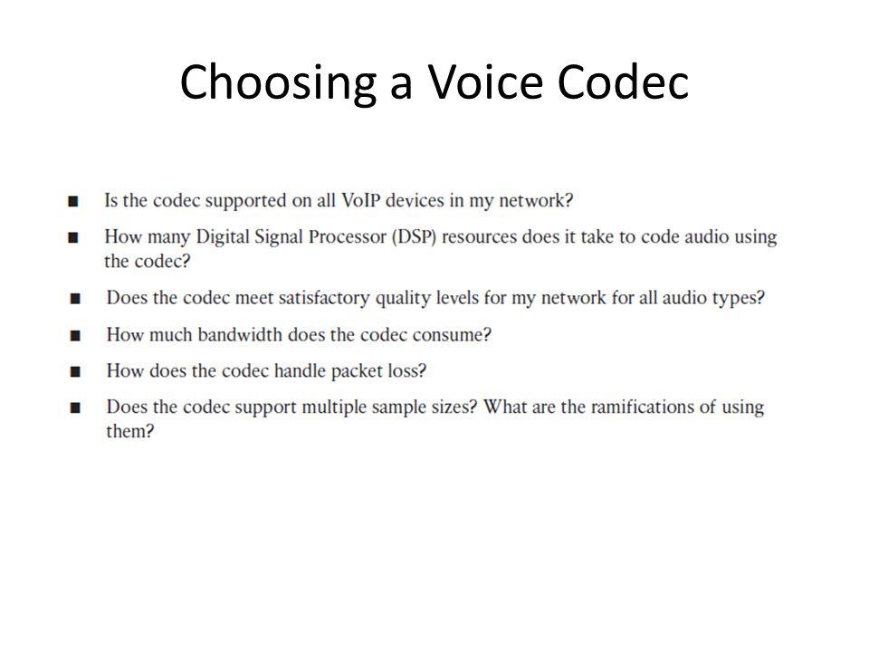 Choosing a Voice Codec