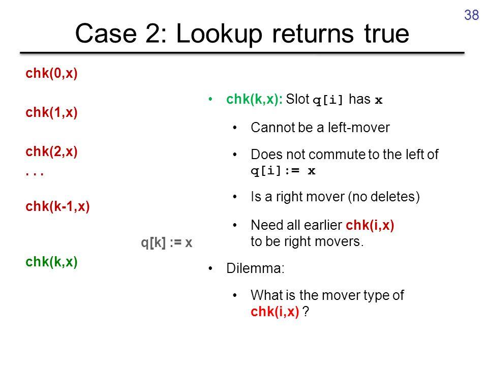 Case 2: Lookup returns true chk(0,x) chk(1,x) chk(2,x)...