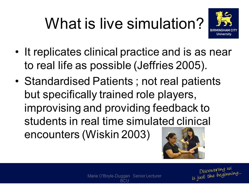 What is live simulation.