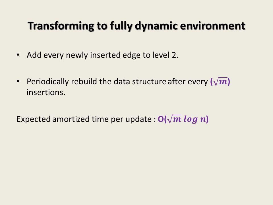 Transforming to fully dynamic environment