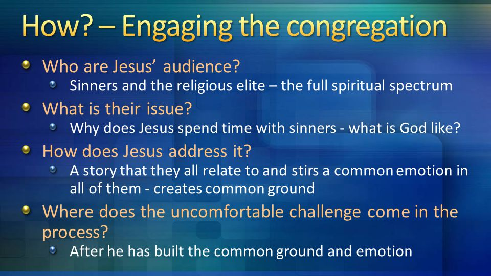 Who are Jesus' audience.