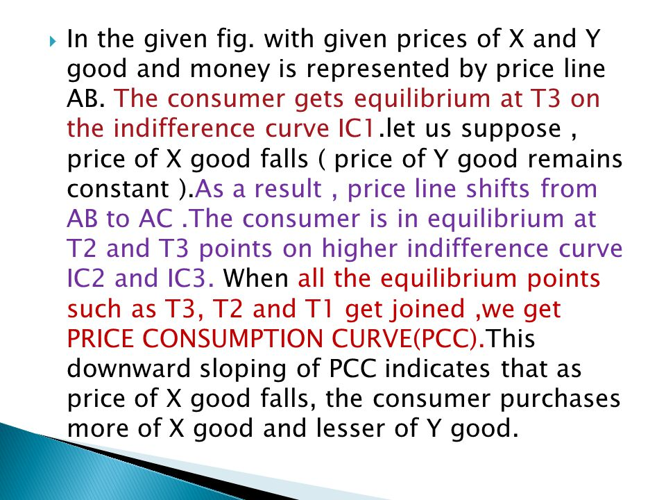  In the given fig. with given prices of X and Y good and money is represented by price line AB.