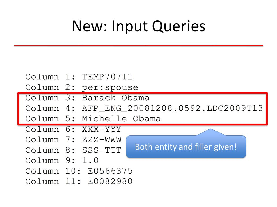 New: Input Queries Provenances and justification given!