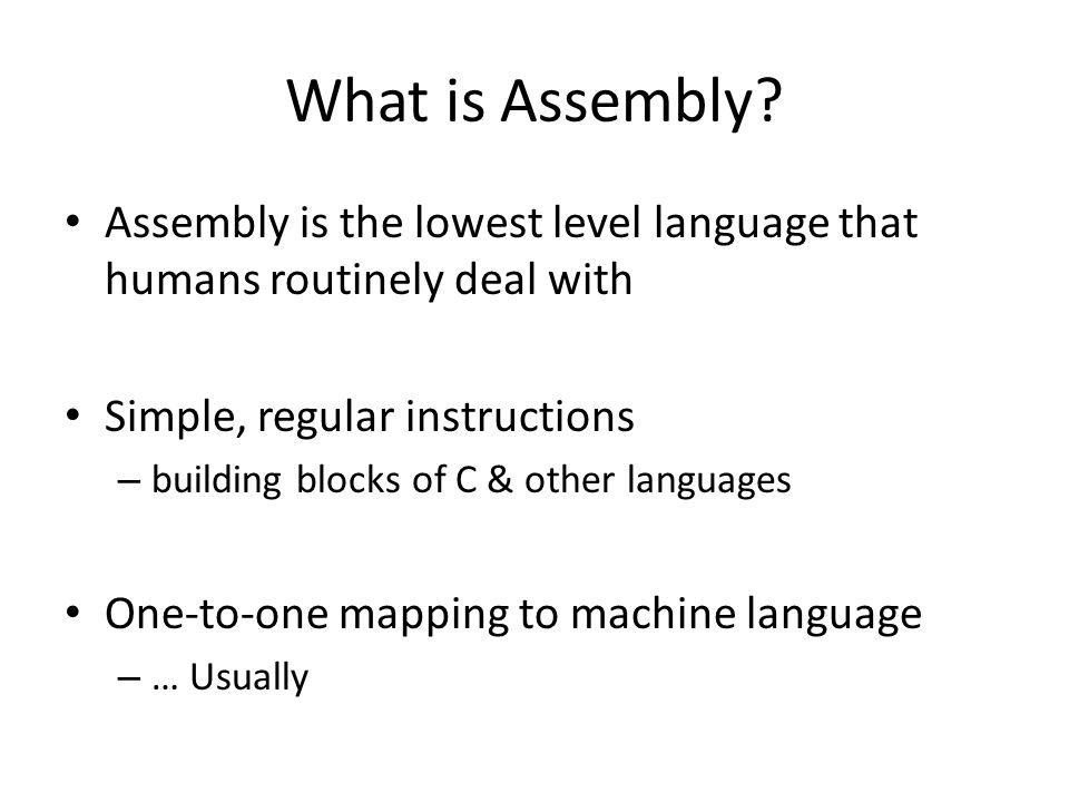 What is Assembly.