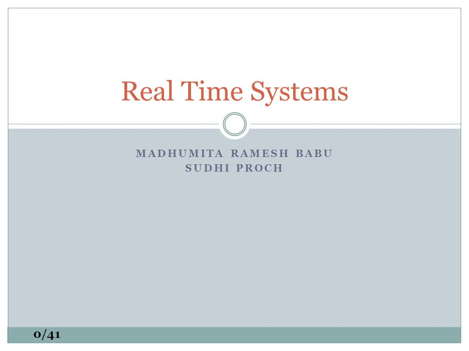 REAL-TIME SCHEDULING WITH REGENERATIVE ENERGY 1/41