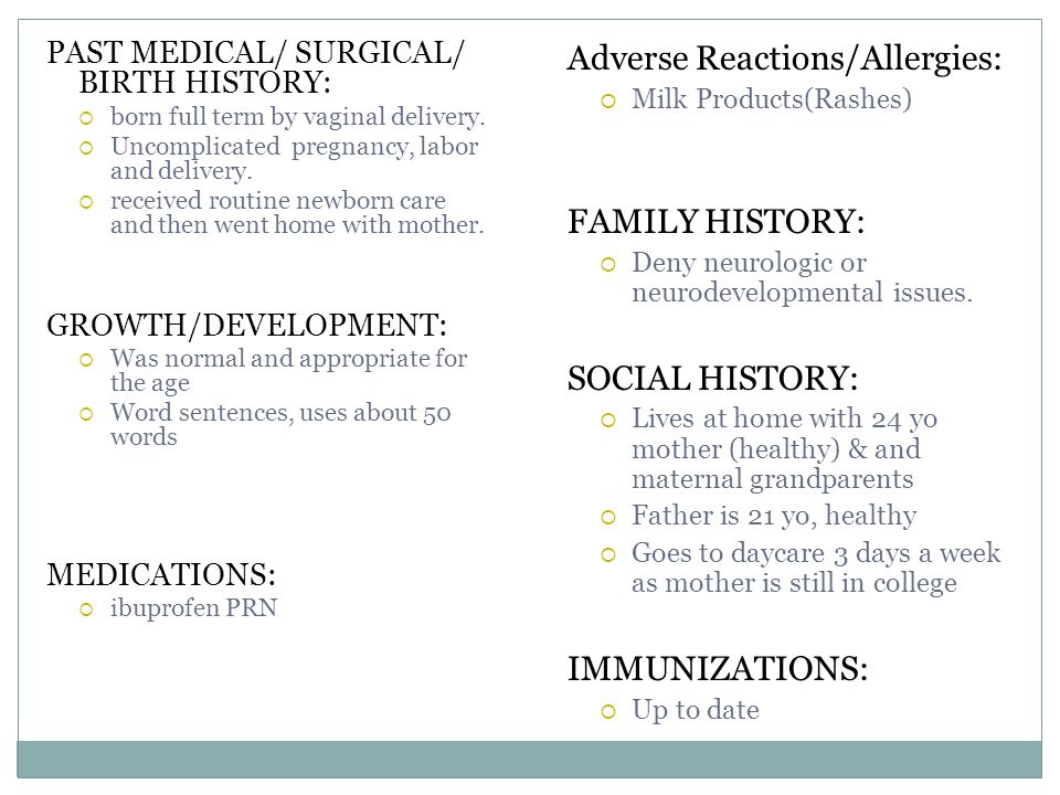 Physical Exam General: Awake, alert, appears of stated age, active boy.