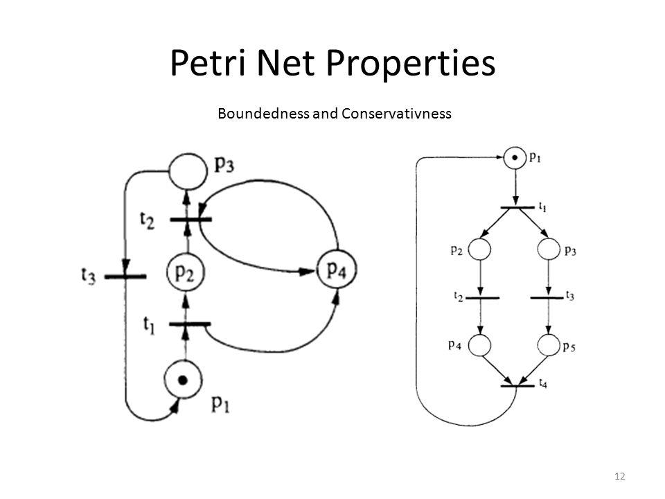 Petri Net Properties 12 Boundedness and Conservativness