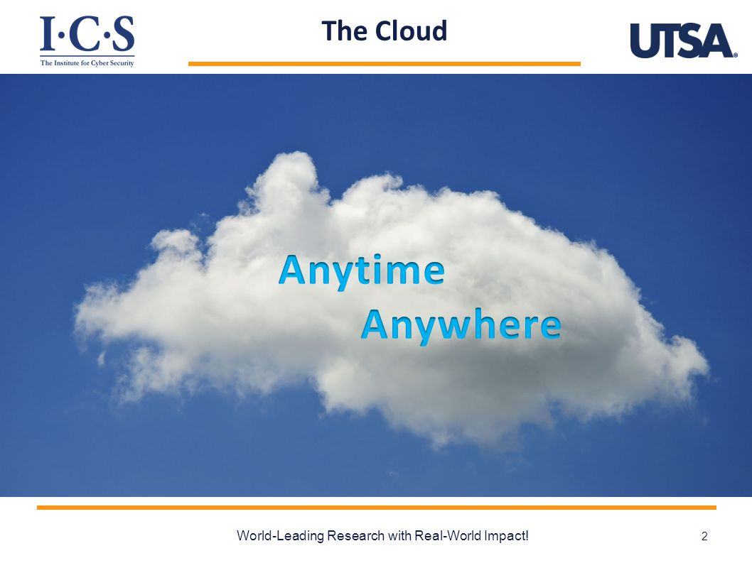 The Cloud World-Leading Research with Real-World Impact! 2