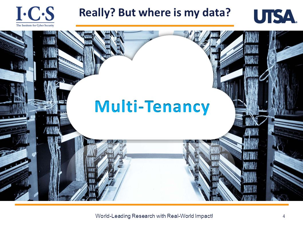 Cloud & Multi-Tenancy  Shared infrastructure  [$$$] -----> [$ $ $]  Multi-Tenancy  Isolated workspace for customers  Virtually temporarily dedicated resources  Problem:  How to collaborate across tenants.