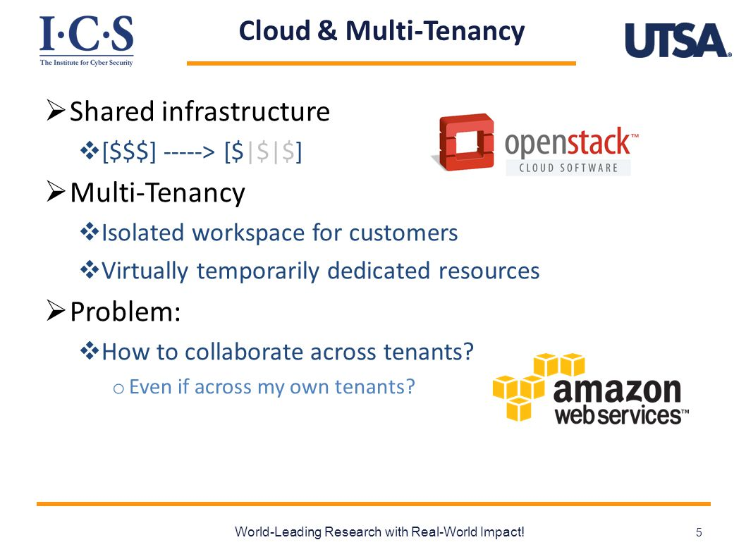 Cloud & Multi-Tenancy  Shared infrastructure  [$$$] -----> [$|$|$]  Multi-Tenancy  Isolated workspace for customers  Virtually temporarily dedica
