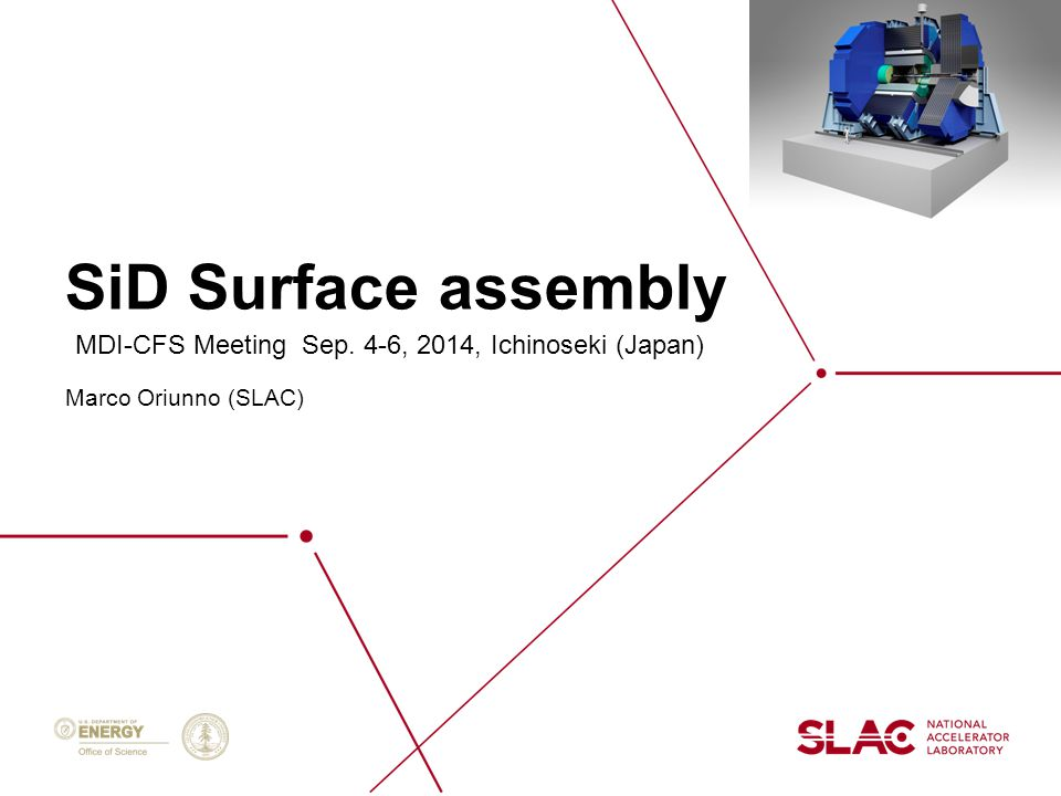 2 SID Assembly Assumptions WeightMetric Tons Tracker1.5 Barrel Ecal60 Barrel Hcal450 Coil162 Barrel Iron3100 Total Barrel3773 Endcap Ecal10 Endcap Hcal38 Endcap Iron2100 Pacman100 BDS5 Total Door (x1)2253 Total SiD8278 1.Maximum Permissible Load on Road, 60 ÷ 80 tons 2.Assembly on surface of Magnet, Solenoid, Hcals