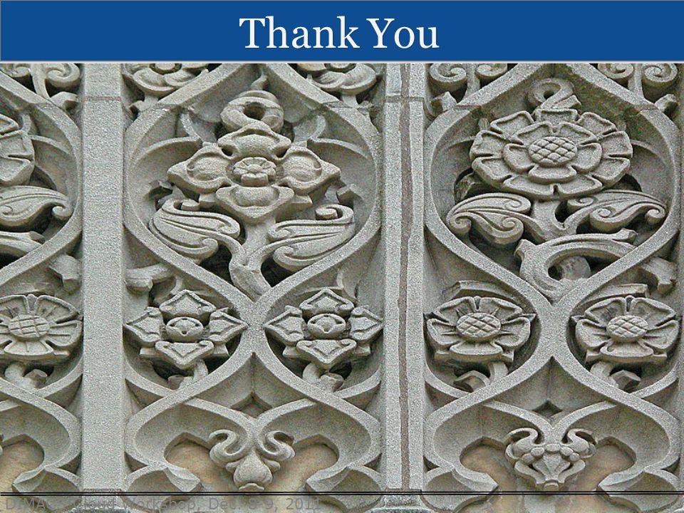 DIMACS Cloud Workshop, Dec. 8-9, 2011 Thank You