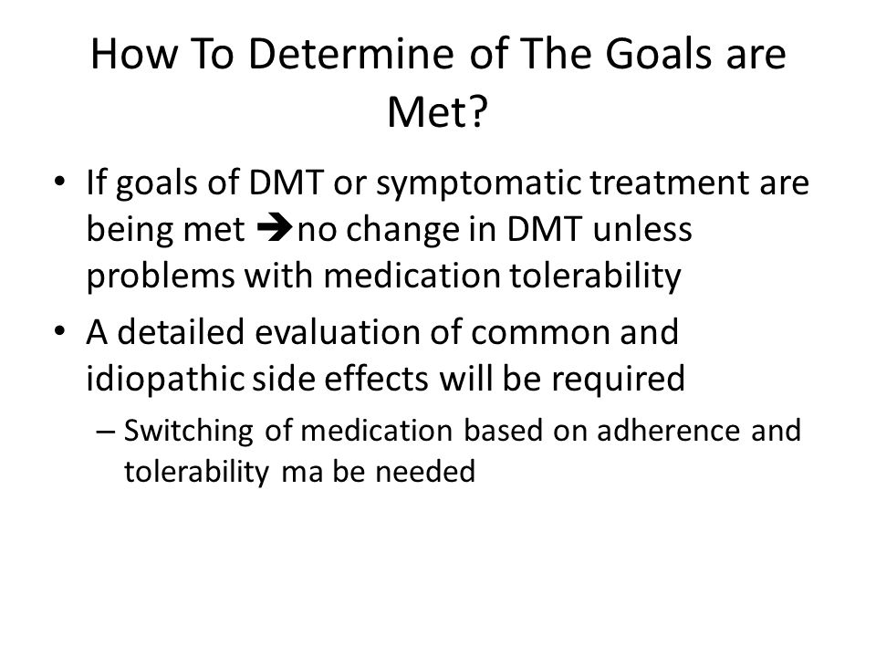 How To Determine of The Goals are Met.
