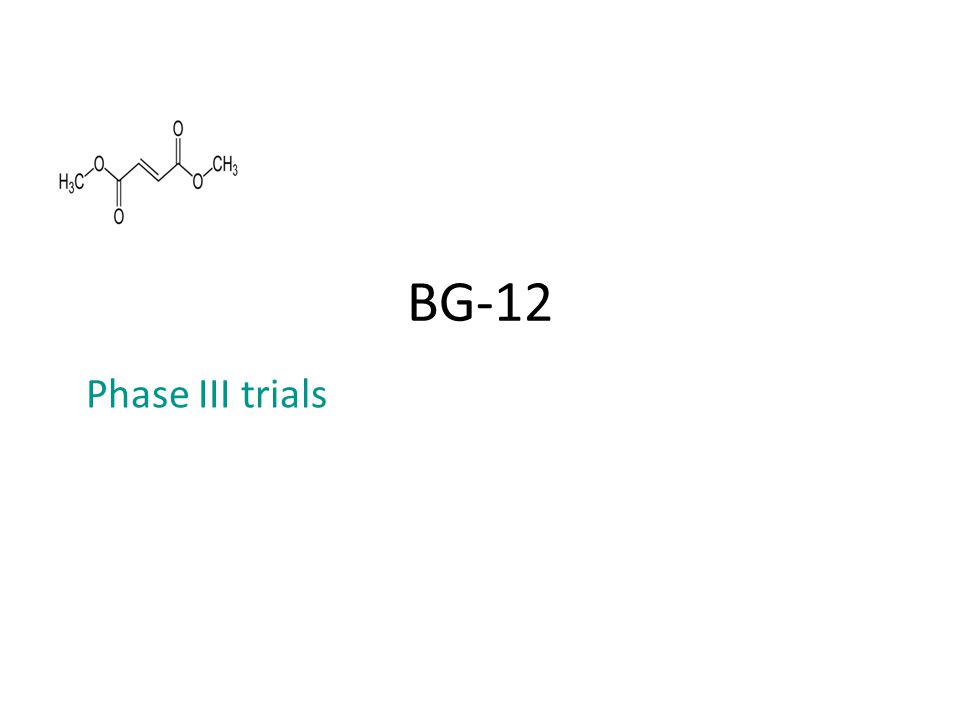 BG-12 Phase III trials