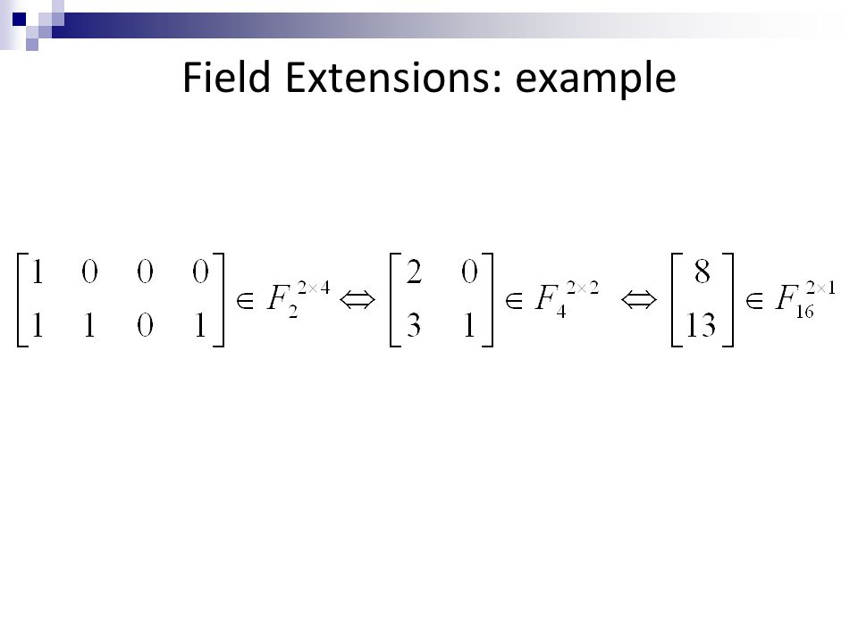 Field Extensions: example