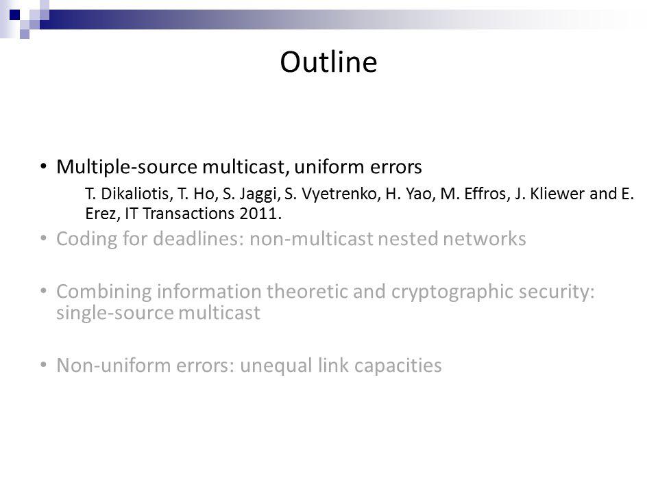 Outline Multiple-source multicast, uniform errors T.