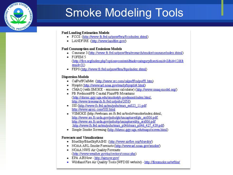Smoke Modeling Tools